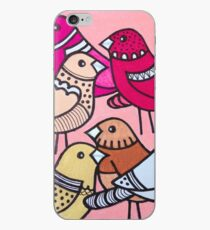 Colourful Pink Birds iPhone Case