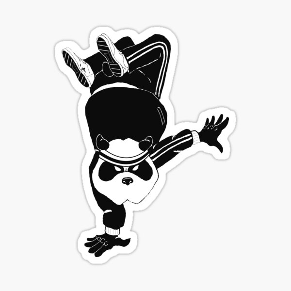 Breakdancin' Panda Sticker