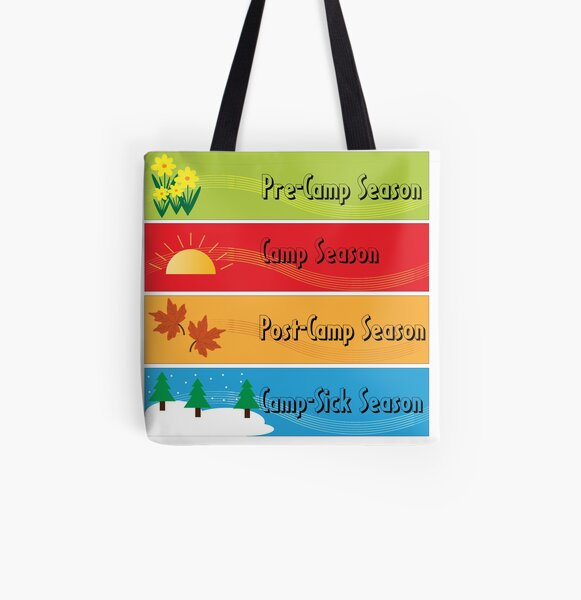 Four Seasons of Camp All Over Print Tote Bag