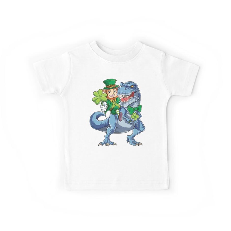 Kobold-Reitdinosaurier-T-Shirt T rex St. Patricks TagesT-Stück von LiqueGifts