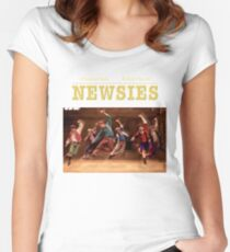 Newsies American musical comedy-drama Women's Fitted Scoop T-Shirt