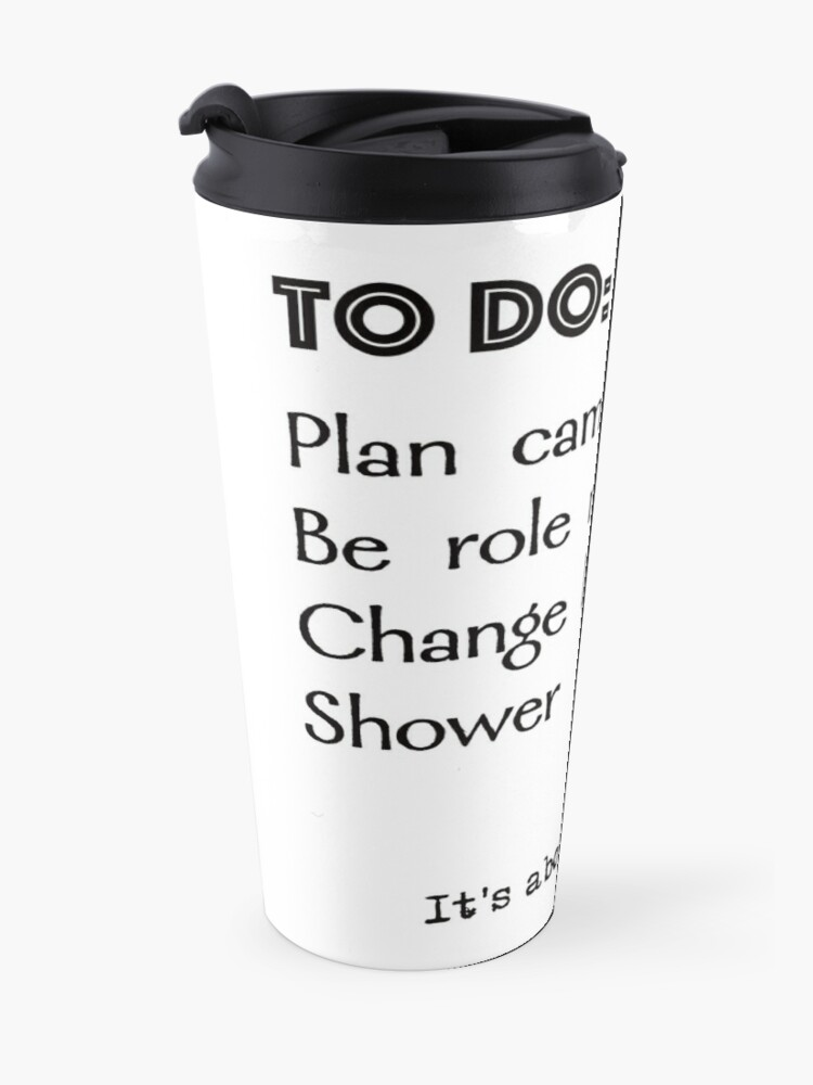 Alternate view of Camp counsellor to do list Travel Mug