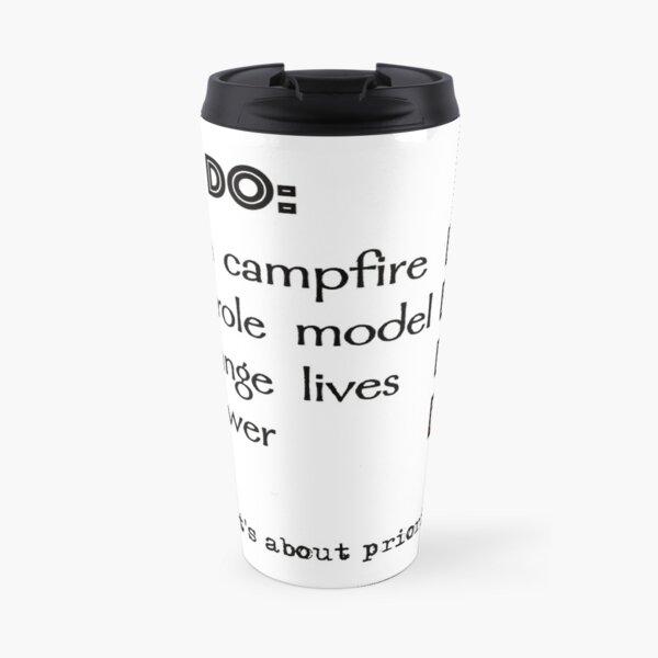 Camp counsellor to do list Travel Mug