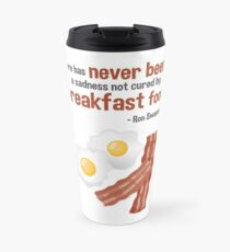 Parks & Recreation // Breakfast Food // Ron Swanson Quotable Travel Mug