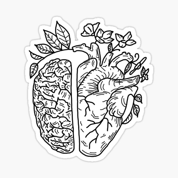 Head and Heart Sticker