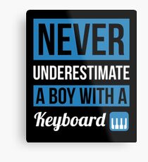 Never Underestimate A Boy With A Keyboard Metal Print