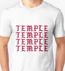 Temple University in Pablo Style Letters Slim Fit T-Shirt