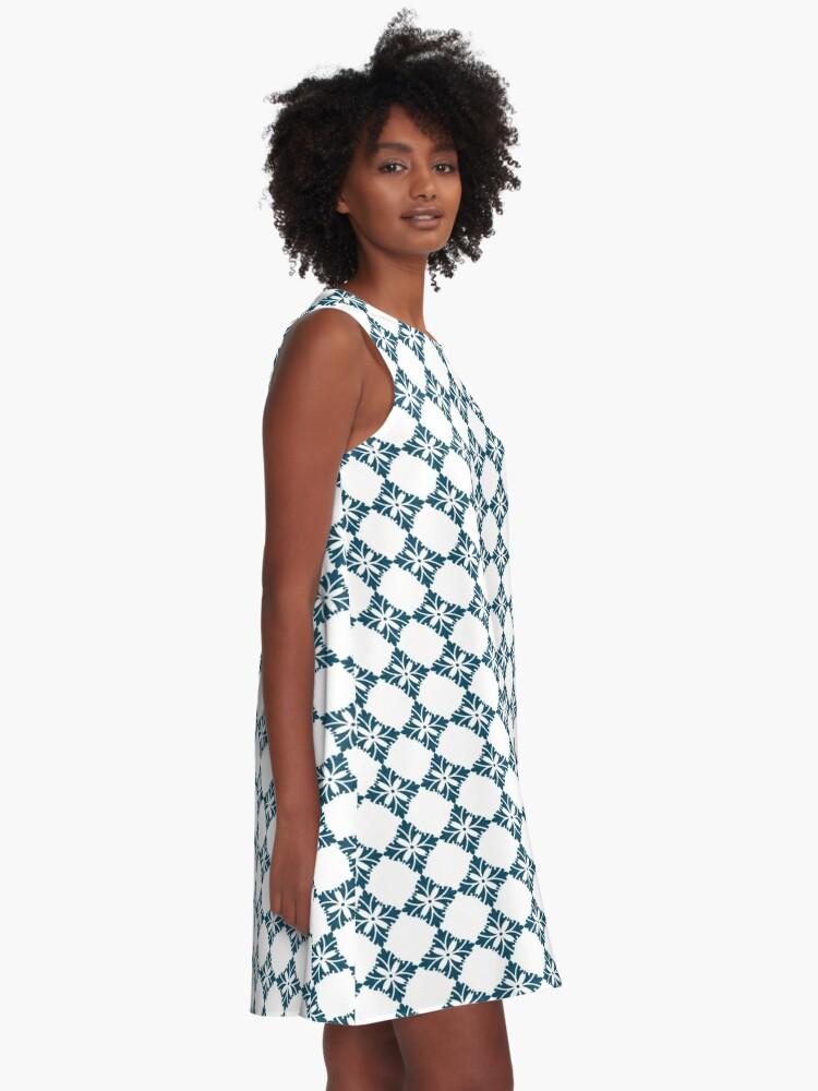 Alternative Ansicht von Einfaches Lilienmuster A-Linien Kleid