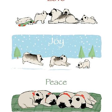 Keeshond Dogs Love Joy Peace by ShortCoffee