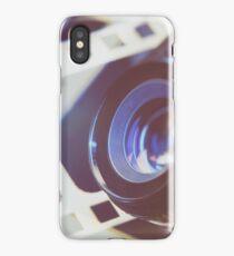Lens SLR camera on background perforation film iPhone Case/Skin