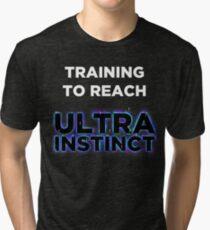 Training to reach Ultra Instinct! - Dragonball Super Tri-blend T-Shirt