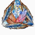 Feathers Triangle Geometry by blackcatprints