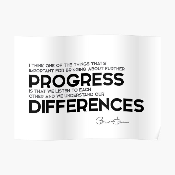 understand our differences - barack obama Poster
