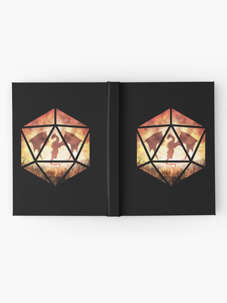 Alternate view of Fire Dragon D20 Hardcover Journal