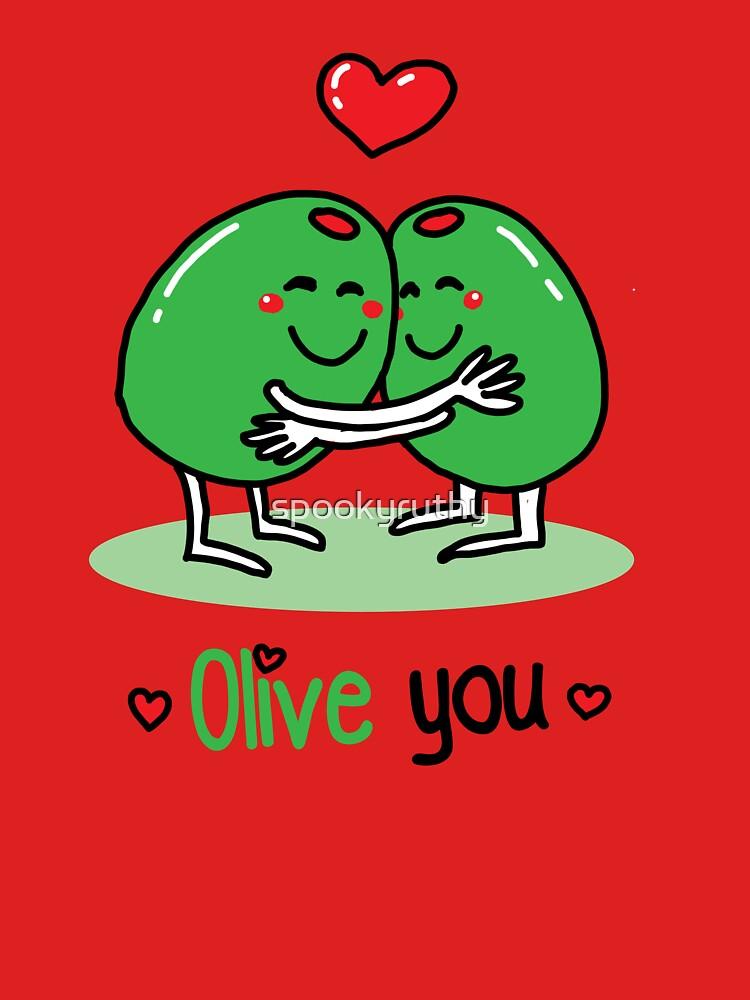 Olive You Valentine S Day Pun Joke Unisex T Shirt By Spookyruthy