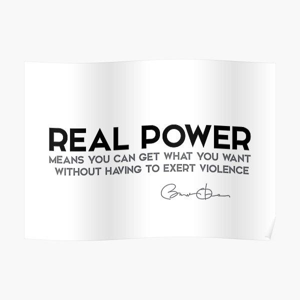 real power - barack obama Poster