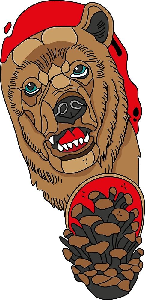 neo traditional bear by jesper0546 redbubble