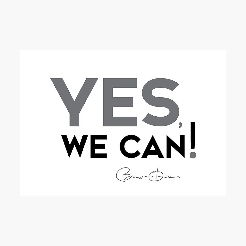 Yes We Can Barack Obama Poster By Razvandrc Redbubble