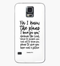 Jeremiah 29:11 - For I know the plans I have for you... Christian Scripture Art - Bible Verses Case/Skin for Samsung Galaxy