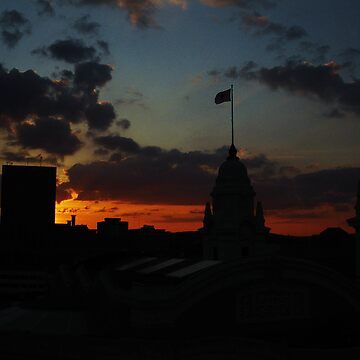 Sunset over Worcester next to Union Station by ericmaki
