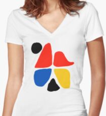 ALEXANDER CALDER (1) Women's Fitted V-Neck T-Shirt