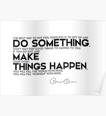 do something, make things happen - barack obama Poster