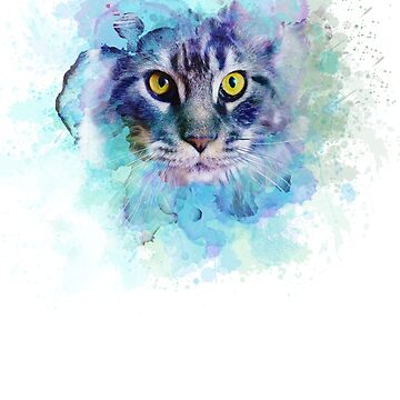 Cat Printed in Colors by sventshirts