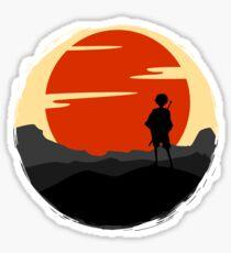 Samurai Sunset Sticker