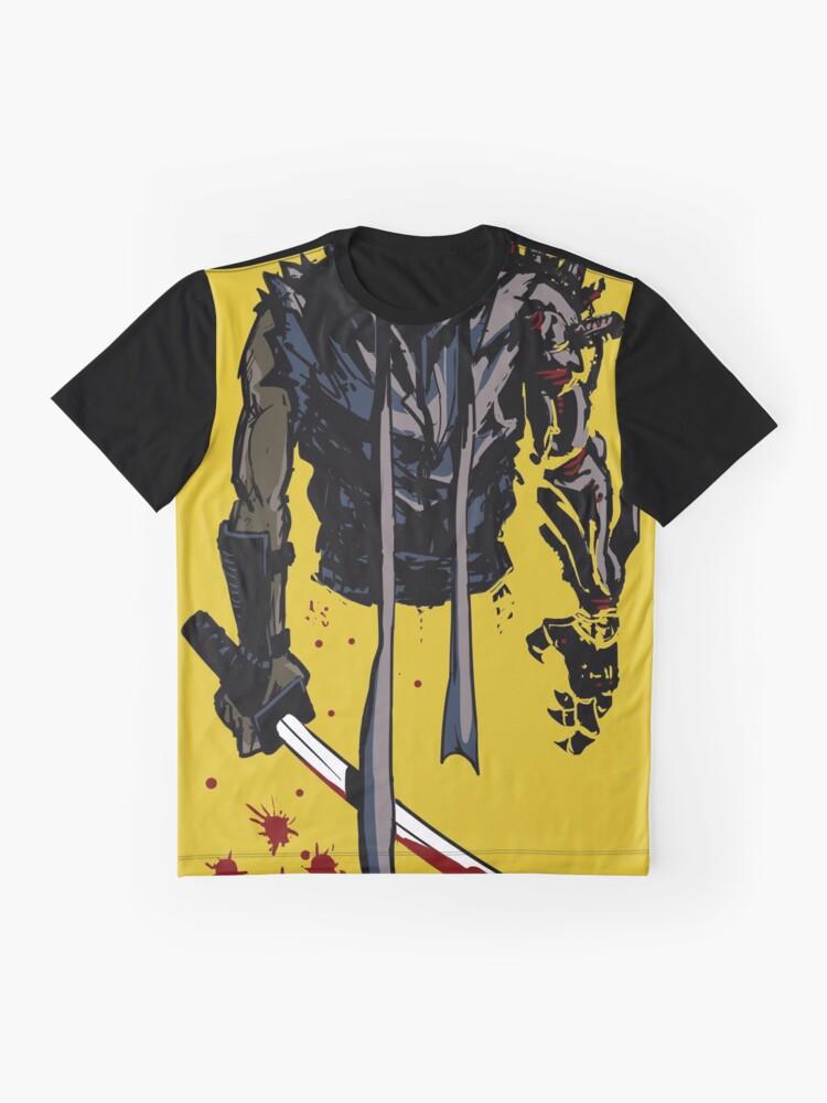 Vista alternativa de Camiseta gráfica Cyborg Ninja