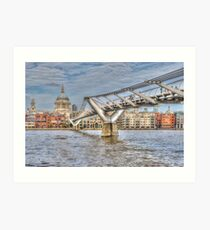 The Millennium Bridge, London Art Print