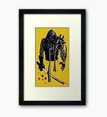 Cyborg Ninja Lámina enmarcada