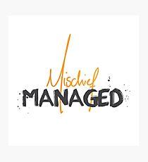 Mischief Managed 1 Photographic Print