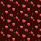 Poppies on Garnet by Timone