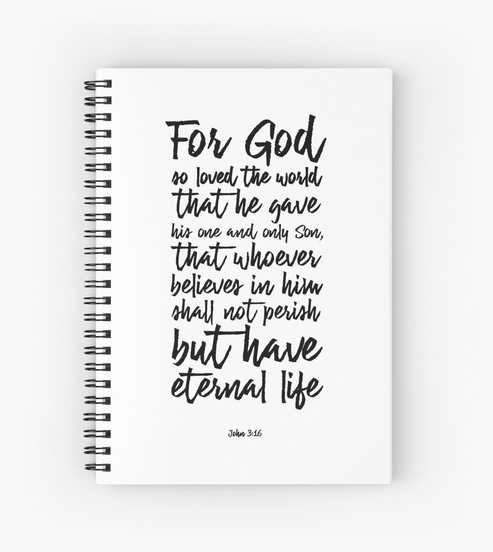 John 316 For God So Loved The World Christian Scripture