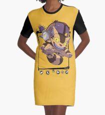 Totoro y Nekobus happy trip Vestido camiseta