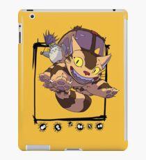 Totoro y Nekobus happy trip Vinilo o funda para iPad