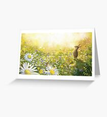 Happy Rabbit on a Meadow Greeting Card