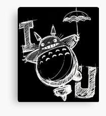 I Love Totoro and I love you too Lienzo