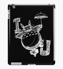 I Love Totoro and I love you too Vinilo o funda para iPad