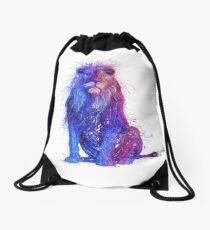 russian wired lion   Drawstring Bag