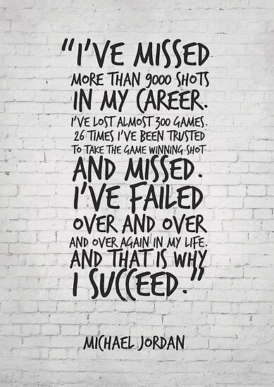 I've missed more than 9000 shots... Michael Jordan Inspirational Quote by inspirational4u