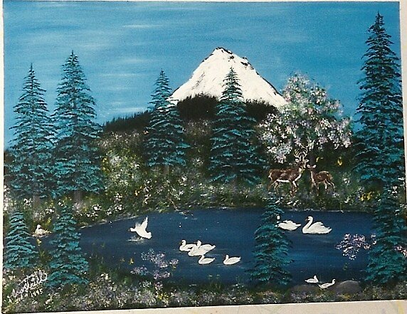 mountain swans by cdcantrell