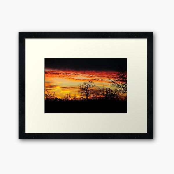 Flames On High Framed Art Print