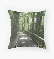 blue springs Throw Pillow