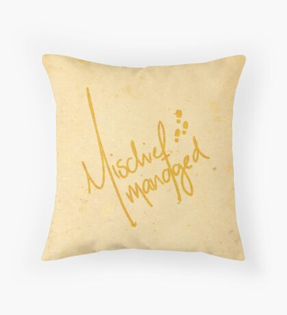 Mischief Managed 2 Throw Pillow