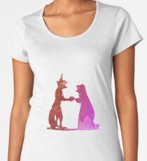 Liebe inspirierte Silhouette Frauen Premium T-Shirts