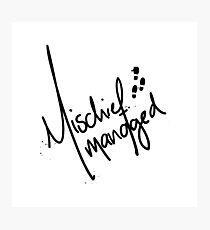 Mischief Managed 3 Photographic Print