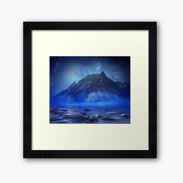 Blue Mist Rising Framed Art Print