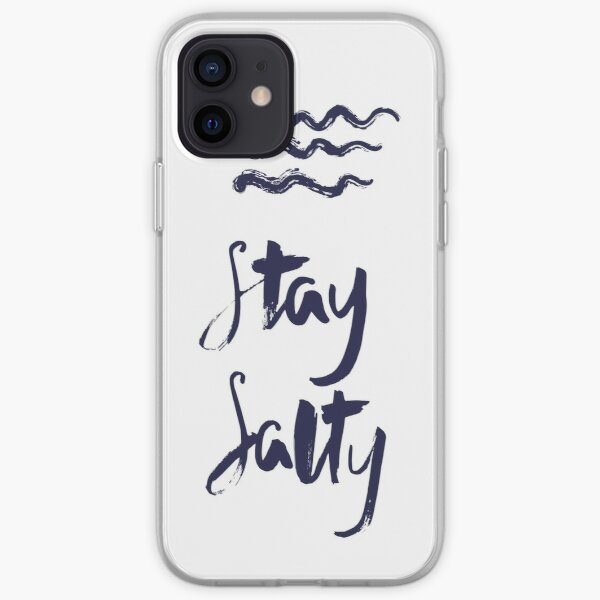 """Stay Salty"" hand written print for water sport fans iPhone Soft Case"