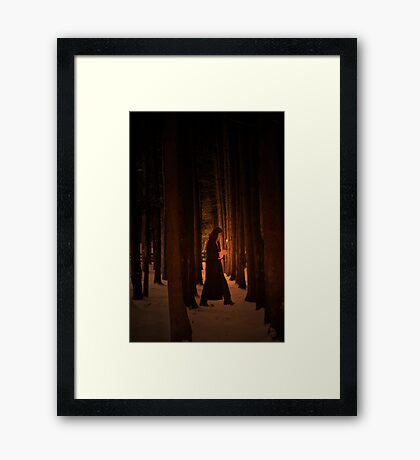 Wood Deep Woman  Framed Print